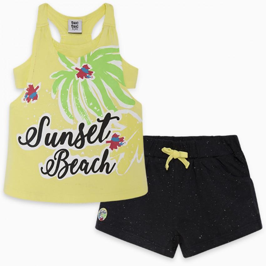 Σετ Παιδικό Εφηβικό Μπλούζα Σορτς (Sunset.2.g)